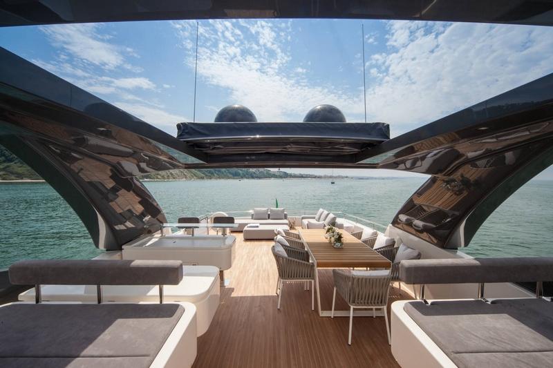 ferretti yachts views