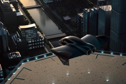 Flying cars. The luxe edition by Porsche and Boeing's Aurora