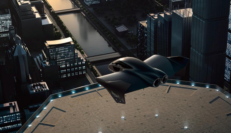 flying car - The luxe edition by Porsche and Boeing's Aurora