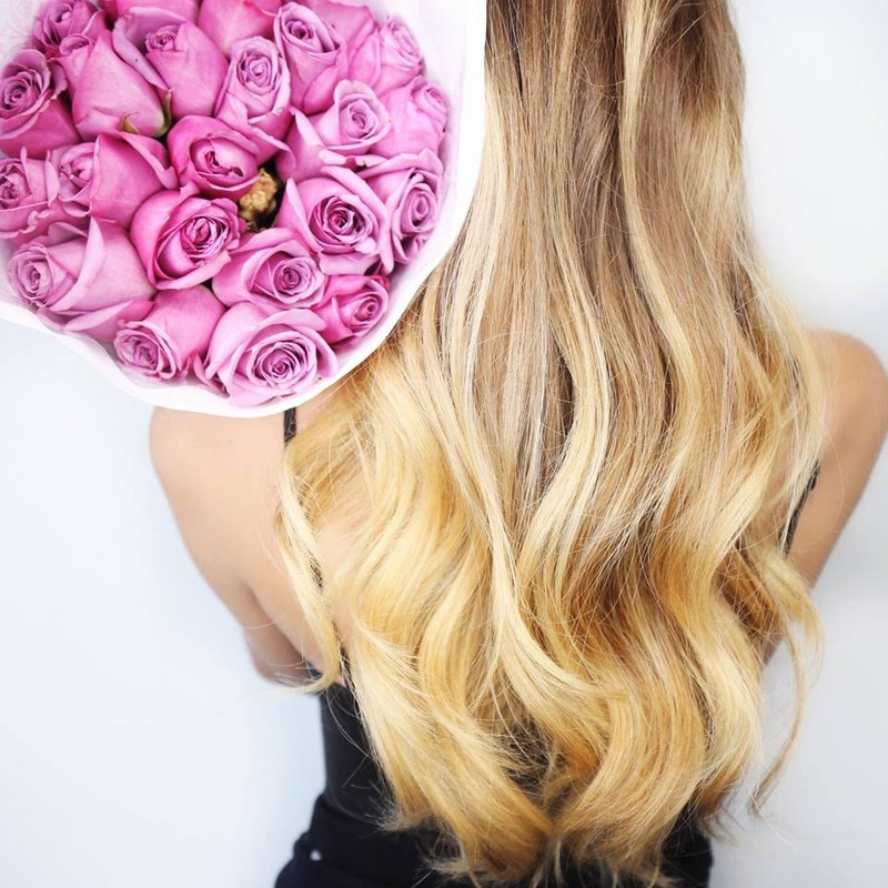 fresh flowers and soft curls - with Elnett Satin Hairspray