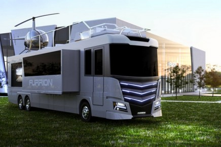 With a hot tub and helipad… the Furrion Elysiumis a one of a kind RV