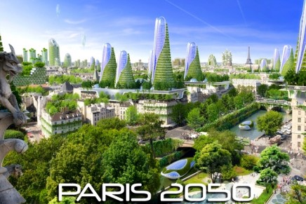 Futuristic green skyscrapers to reduce 75% of Paris' greenhouse gas emissions by 2050
