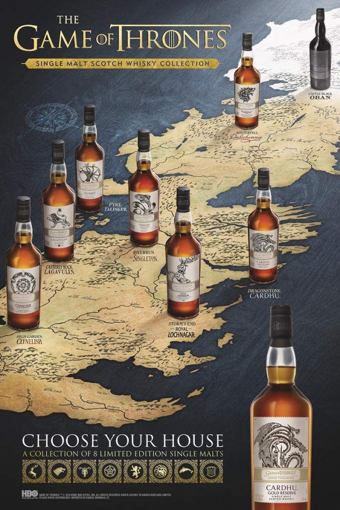 game of thrones whisky collection - choose your house