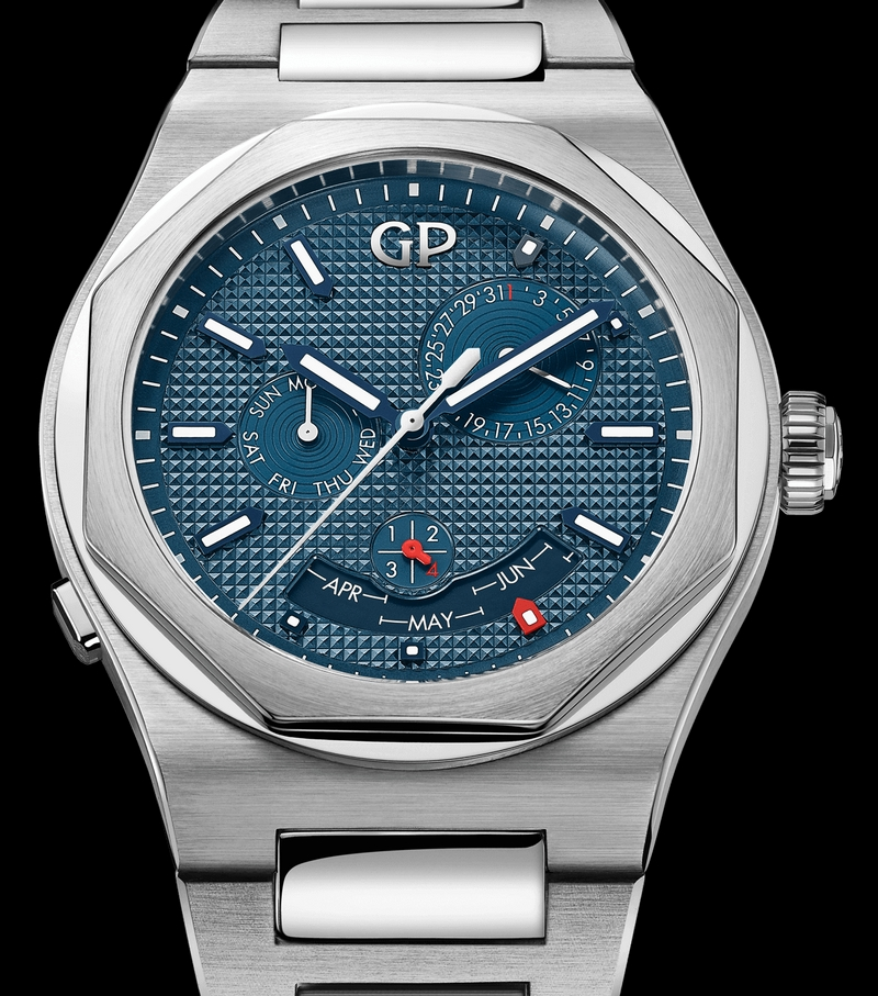 girard-perregaux laureato-perpetual-calendar-watch
