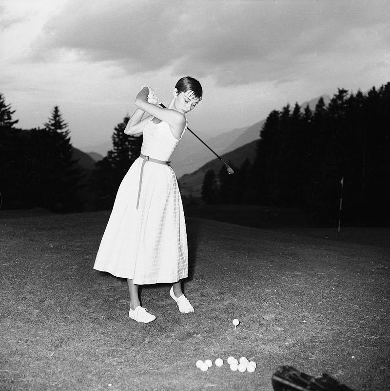 golf with audrey hepburn at buergenstock