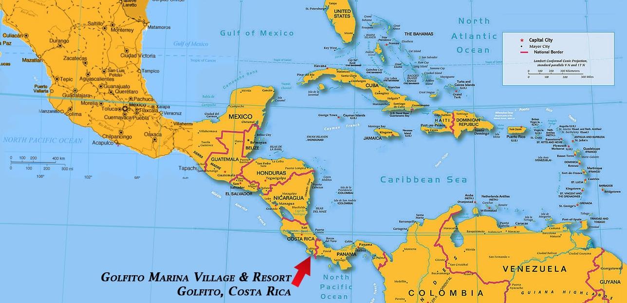 golfito costa rica map Golfito Marina Village And Luxury Resort Costa Rica Map golfito costa rica map