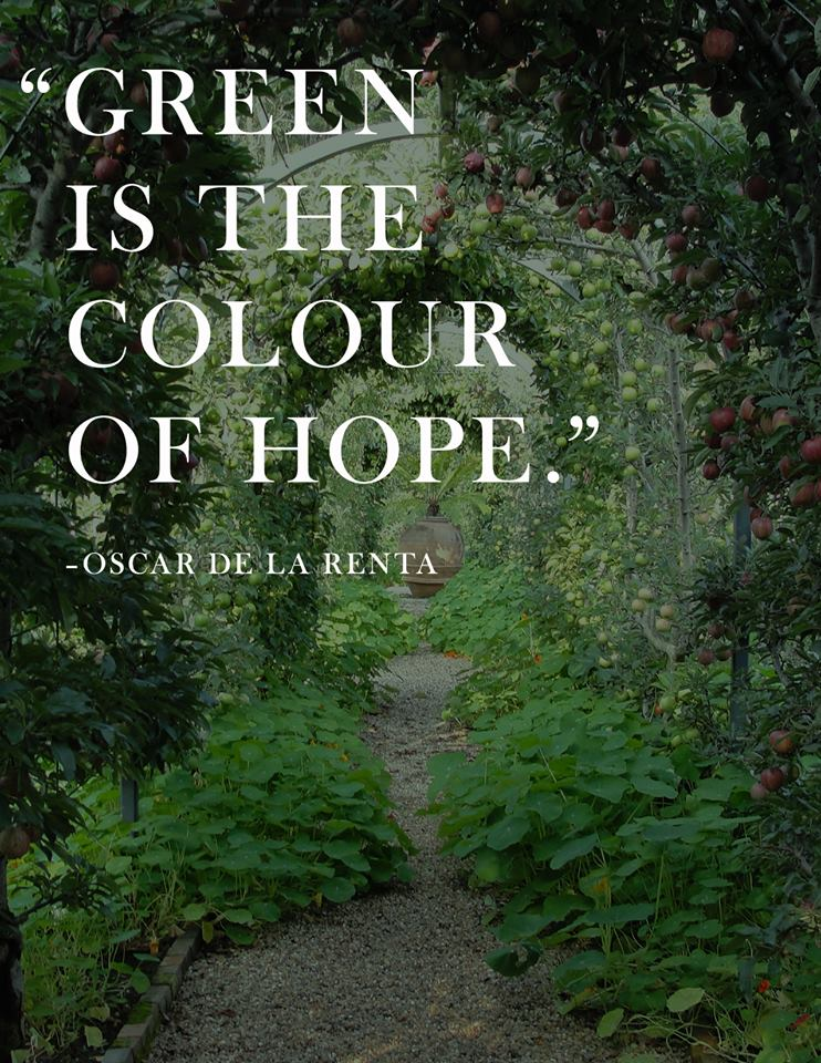 green is the color of hope - oscar de la renta - 2LUXURY2.COM
