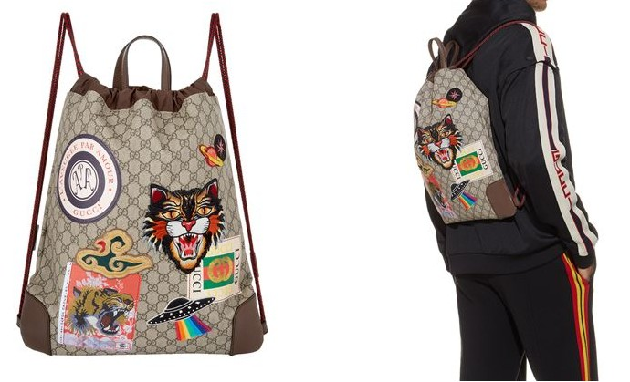 gucci Courrier GG Supreme Drawstring Backpack