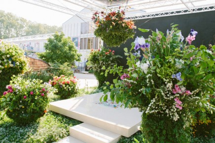 Silver at the Chelsea Flower Show. Gucci's first foray into gardening