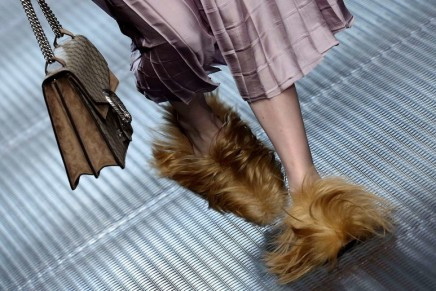 Fur, fluff and pom-poms put the shaggy into shoes