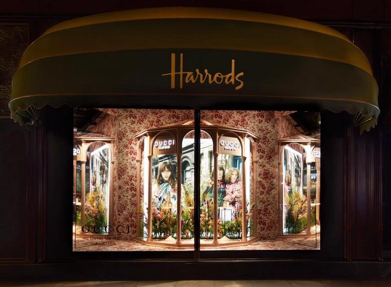 gucci windows at harrods 2017