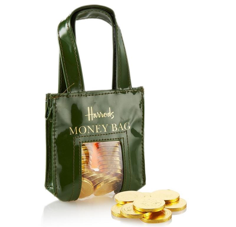 harrods Belgian Milk Chocolate Coins in Bag