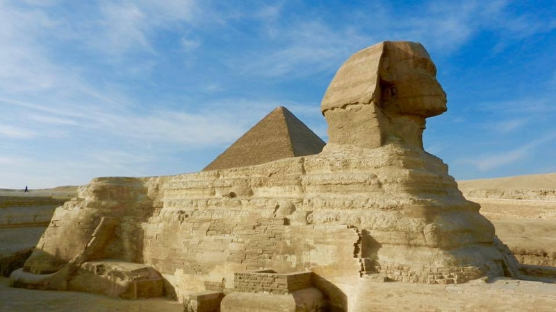 he Sphinx and the Great Pyramid