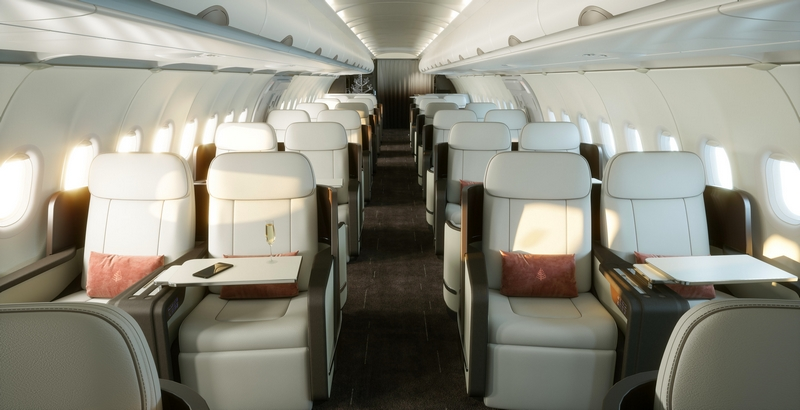 he new Four Seasons Private Jet offers the widest and tallest cabin in its class.
