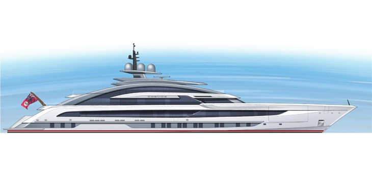 heesen yachts project cosmos drawings