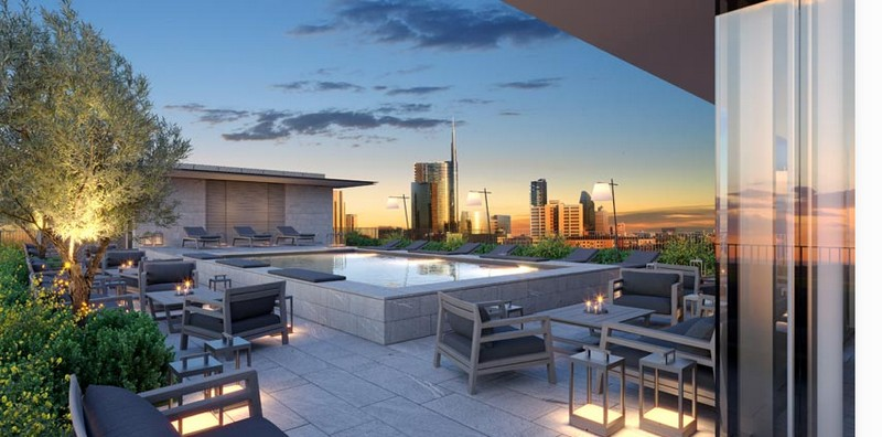hotel viu milano - terrace with a stunning view-