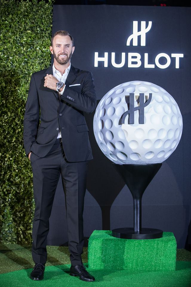 hublot loves golf October 2017 -Hublot Ambassador Dustin Johnson