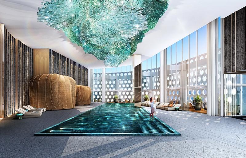 jj dream tower resort spaces - indoor pool