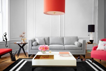 kate spade new york debuts furniture, lighting, rugs and fabric collection
