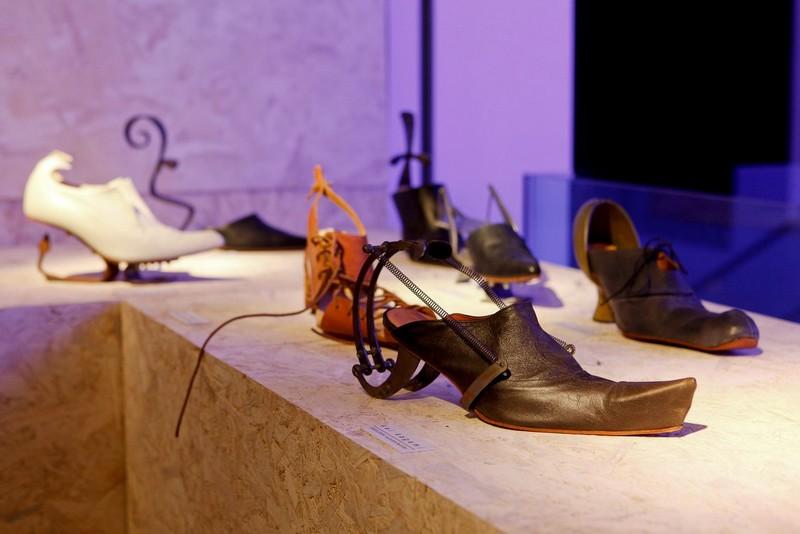 kei kagami shoes photos -kei kagami retrospective shoe exhibition at Selfridges
