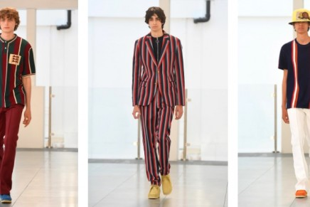 David and Victoria Beckham join Kent & Curwen fashion show