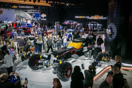 Life-size LEGO Batmobile unveiled at the North American International Auto Show