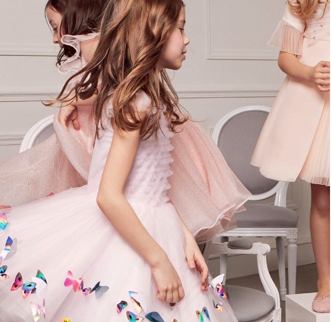 little Dior girls dressed in the latest exclusive Baby Dior creations by CordeliadeCastellane