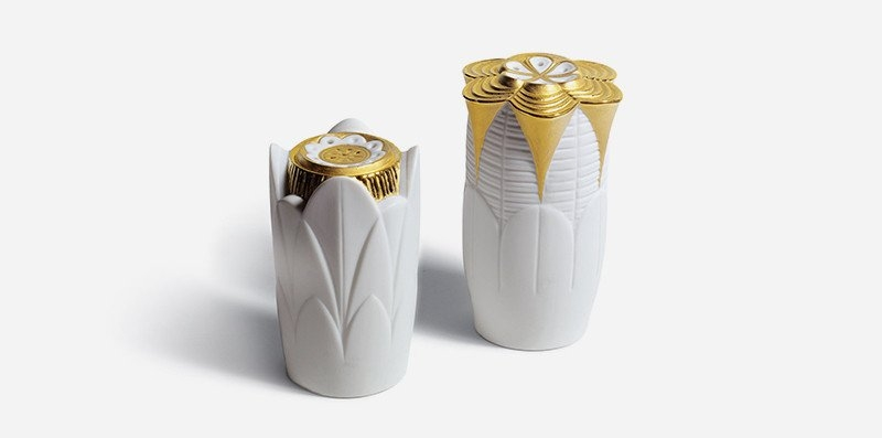 lladro-naturo-gold-salt-pepper-shakers