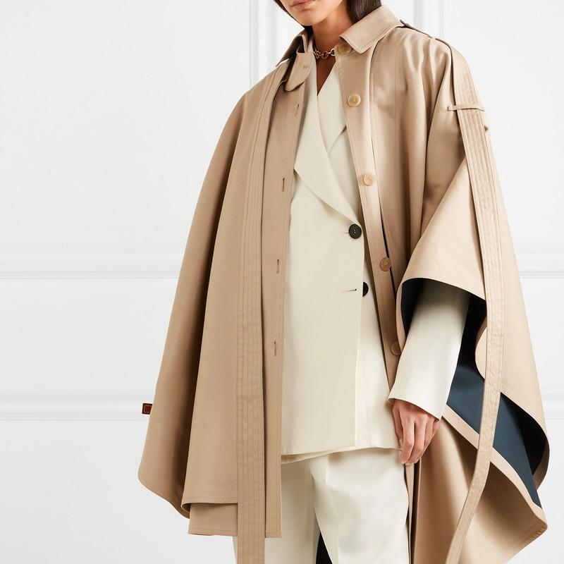 loewe Oversized asymmetric cotton-canvas cape