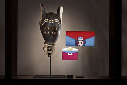 Mask Small Leather Goods inspired by Gaston-Louis Vuitton's African mask collection