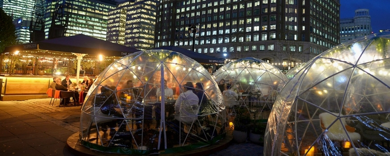 luxury igloos for rooftop bars and terraces