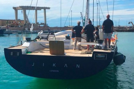 High-performance luxury maxi yacht A80 Jikan debuted at the Genoa Boat Show