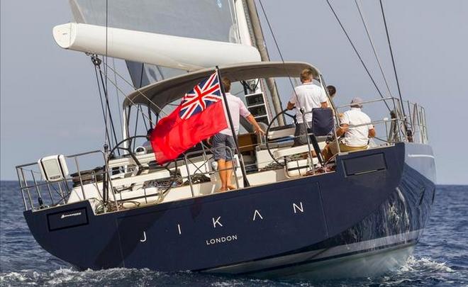 luxury maxi yacht A80 Jikan on sea