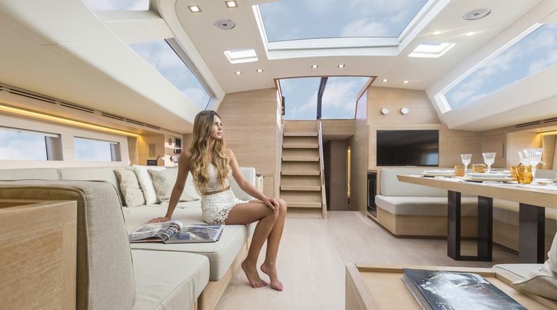 luxury maxi yacht A80 - interiors 2018