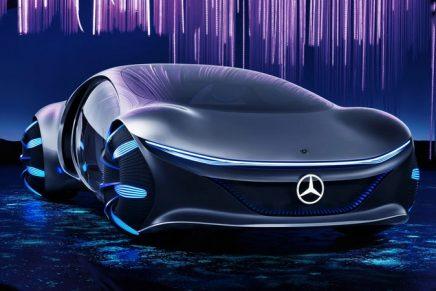 Part dinosaur, part Mars bar … it's the Avatar-inspired Mercedes-Benz!