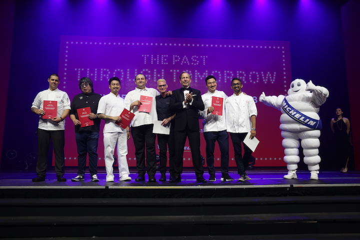 michelin guide singapoe third edition - The chefs behind the evening's menu
