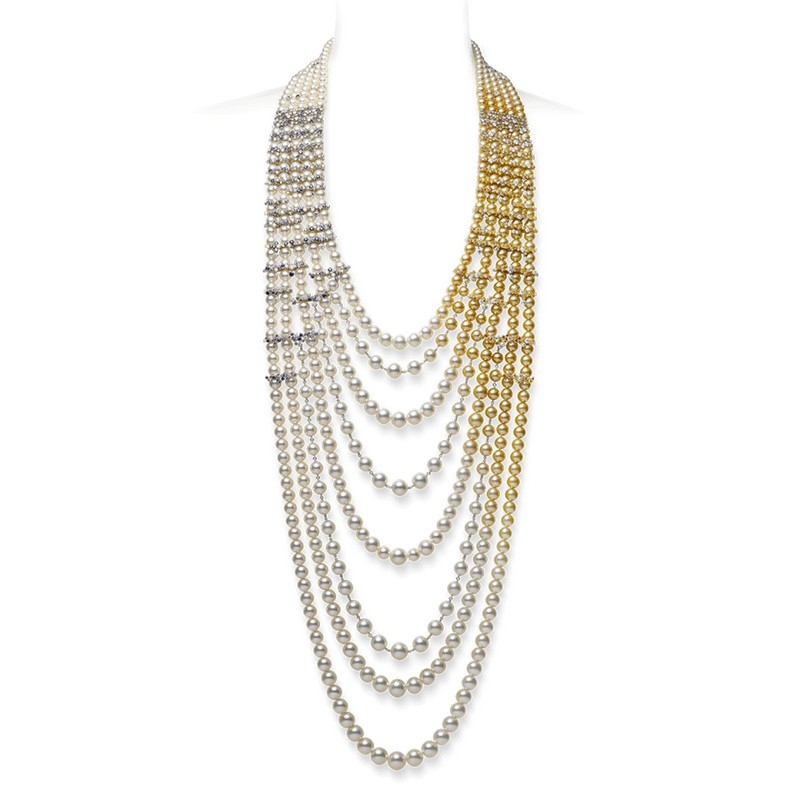 mikimoto praise to nature collection 2017 - long pearl necklace