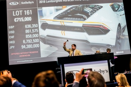 Pope Francis' Huracan sold for charity for the astonishing figure of €715,000.