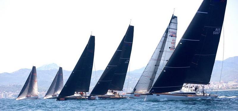 nautor's swan yachts involved in a training regatta at Copa del Rey2017