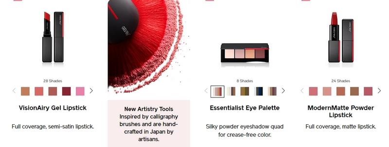 new makeup range from Shiseido 2018