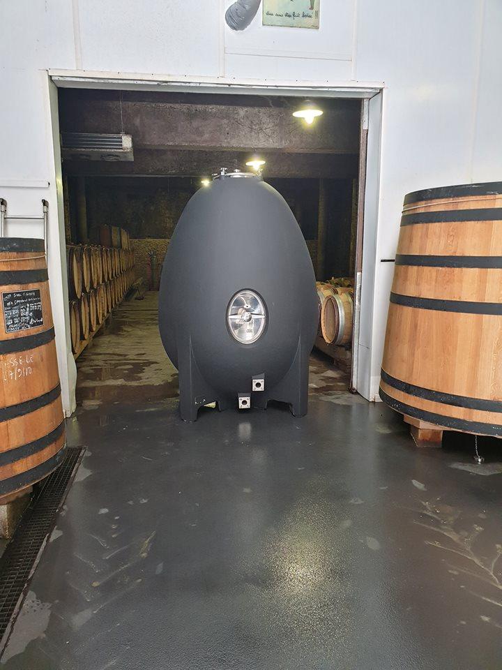 nomblot Concrete Wine Tank Model MC 17 joined the field domain in Saint-Romain, Burgundy-Franche-Comté