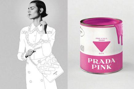 Painted in Prada: Freja Beha Erichsen premieres Prada's paint for Pre-Fall 2020
