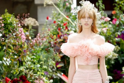 Haute couture fashion week gets pastels, petals and pinkness