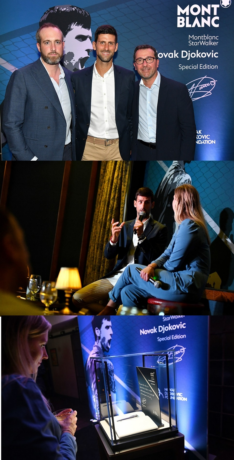 partnership between Montblanc and Novac Djokovic Foundation 2019-03