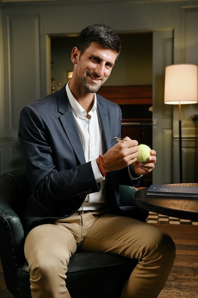 partnership between Montblanc and Novac Djokovic Foundation 2019