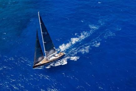 Perini Navi's stunning 38m sloop is the largest sailing boat at the Cannes Festival