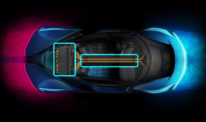 pininfarina PF0 EV powertrain layout concept