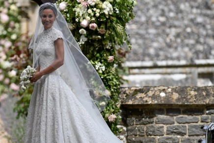 Demure drama: Pippa Middleton's wedding dress deconstructed