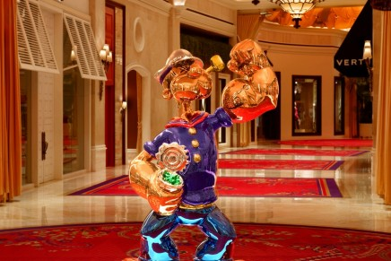 The $28.2 million Popeye by Jeff Koons debuts on public display