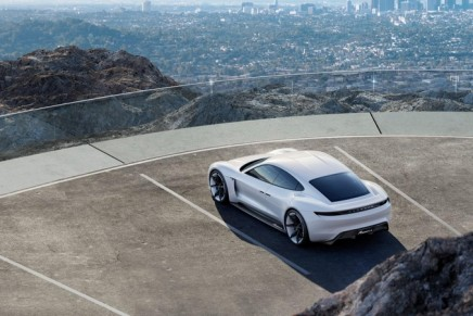 """The first purely electric Porsche will be known as the Taycan, a """"lively young horse"""""""